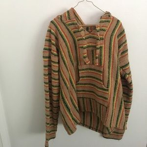 """Sweaters - Oversized Hooded """"Mexican Rug"""" Poncho or Hoodie"""